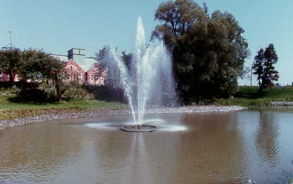 Unionville Library Pond Fountain